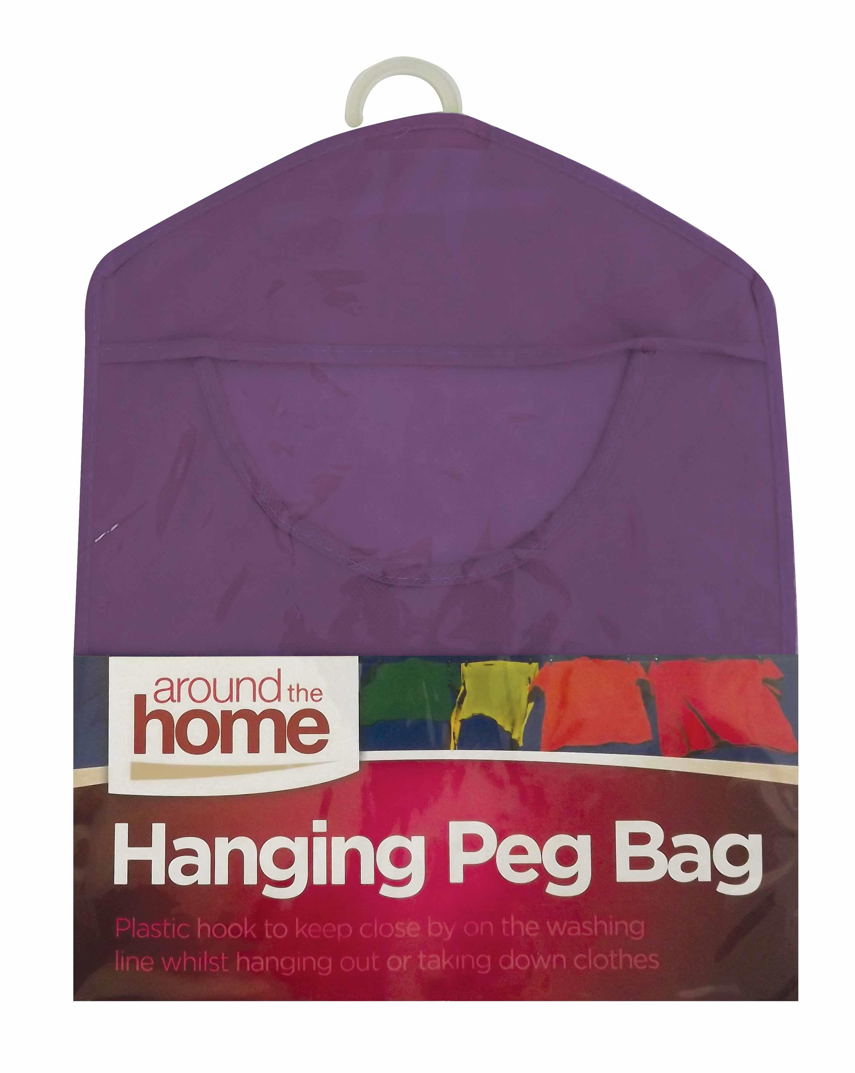 Hanging peg bag fabric pegs hanging storage bag basket for Picture hanging pegs