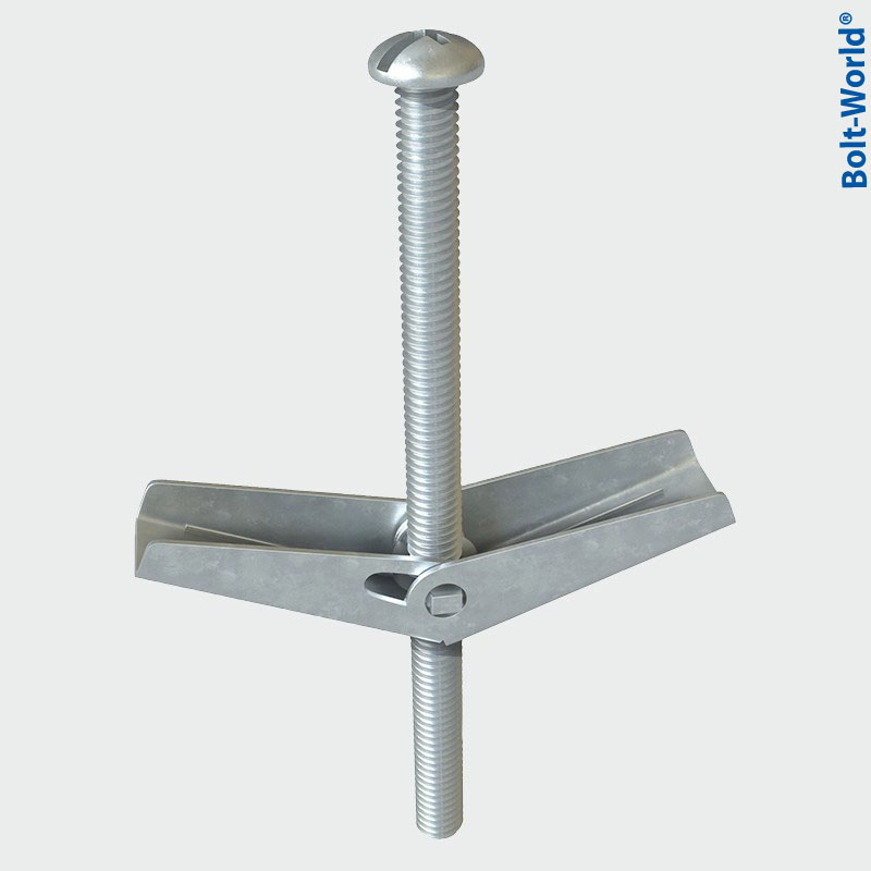 Plasterboard Spring Toggle Fixings With Screws Hollow