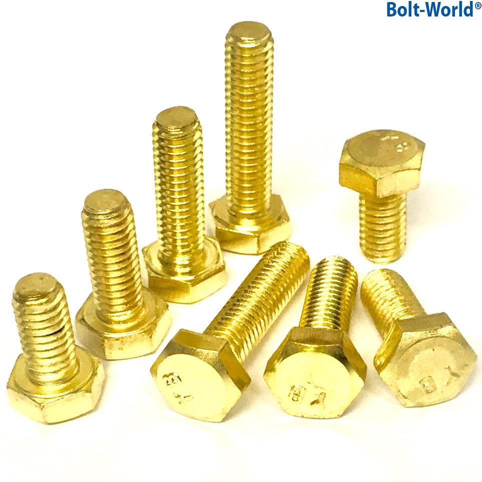 M solid brass fully threaded set screws hexagon hex