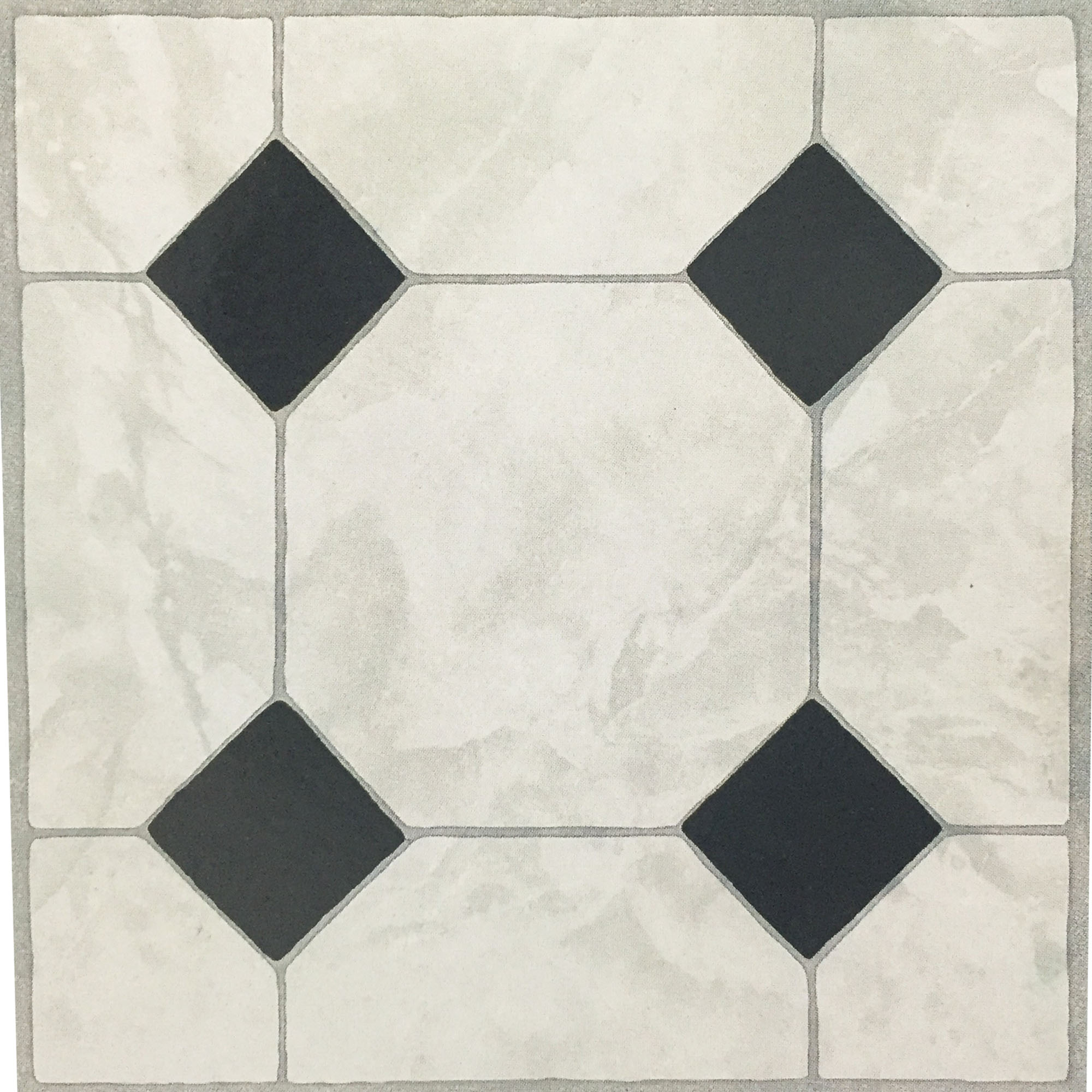 3 x ceramic effect vinyl floor tiles self adhesive for Vinyl floor tiles in bathroom