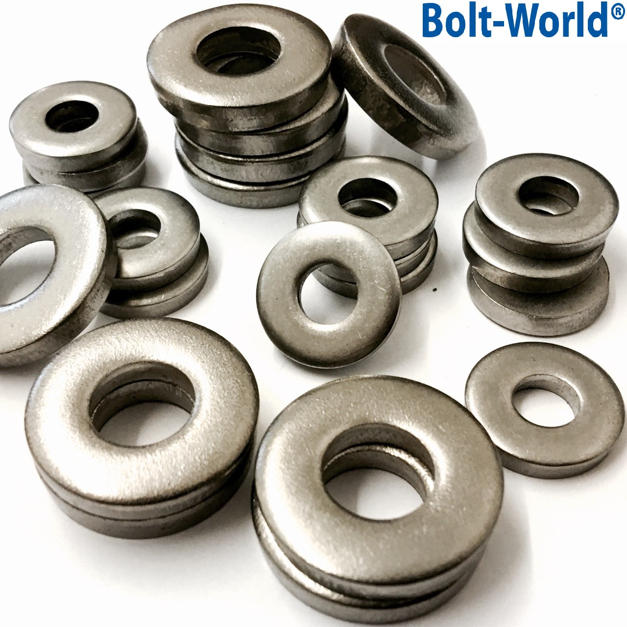 Extra thick flat spacer washers a stainless steel din