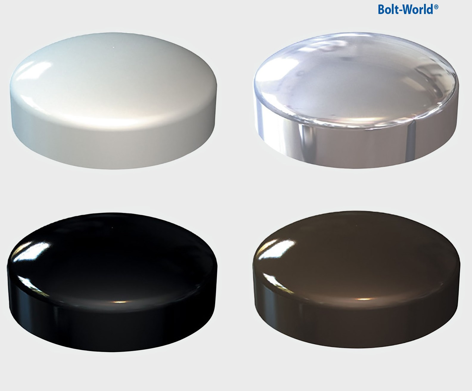 plastic dome screw cover cap chrome white black brown. Black Bedroom Furniture Sets. Home Design Ideas