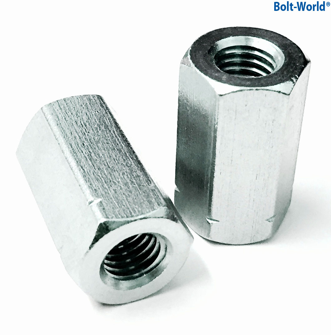 Threaded Bar Couplers : M din fully threaded coupling joining connector
