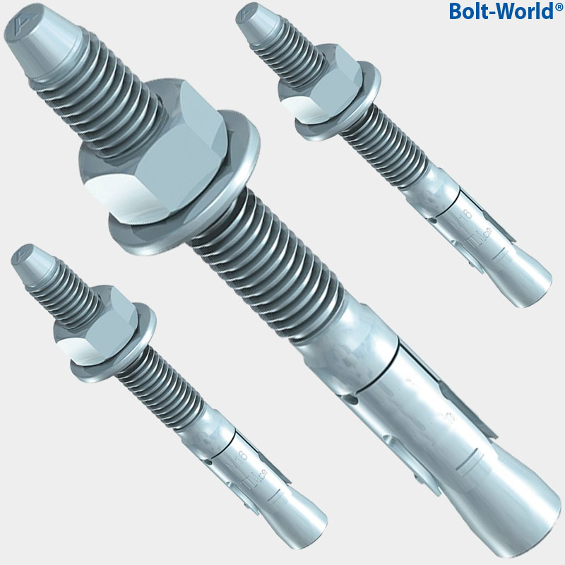(8) Concrete Wedge Anchor Bolts 3/4 x 6-1/4 Includes Nuts ... |Wedge Bolts Concrete