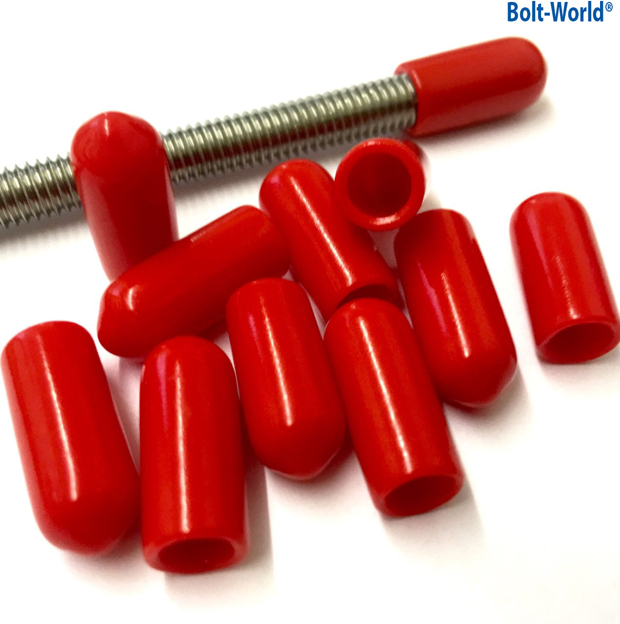 Red Rod Bar Studding Stud Screws Bolts Cable Safety