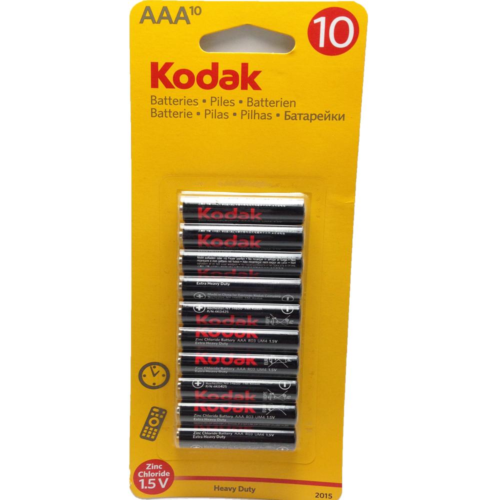 1 PACK OF 10 KODAK AAA SIZE BATTERIES BATTERY 1.5V CELL